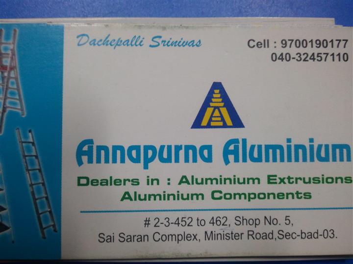 ANNAPURNA ALUMINIUM   dealers in aluminium extrusions and ladders