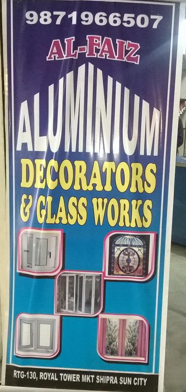 Al-faiz aluminium decorators.