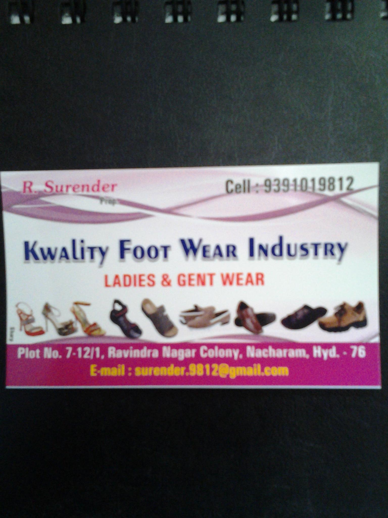 KWALITY FOOT WEAR INDUSTRY