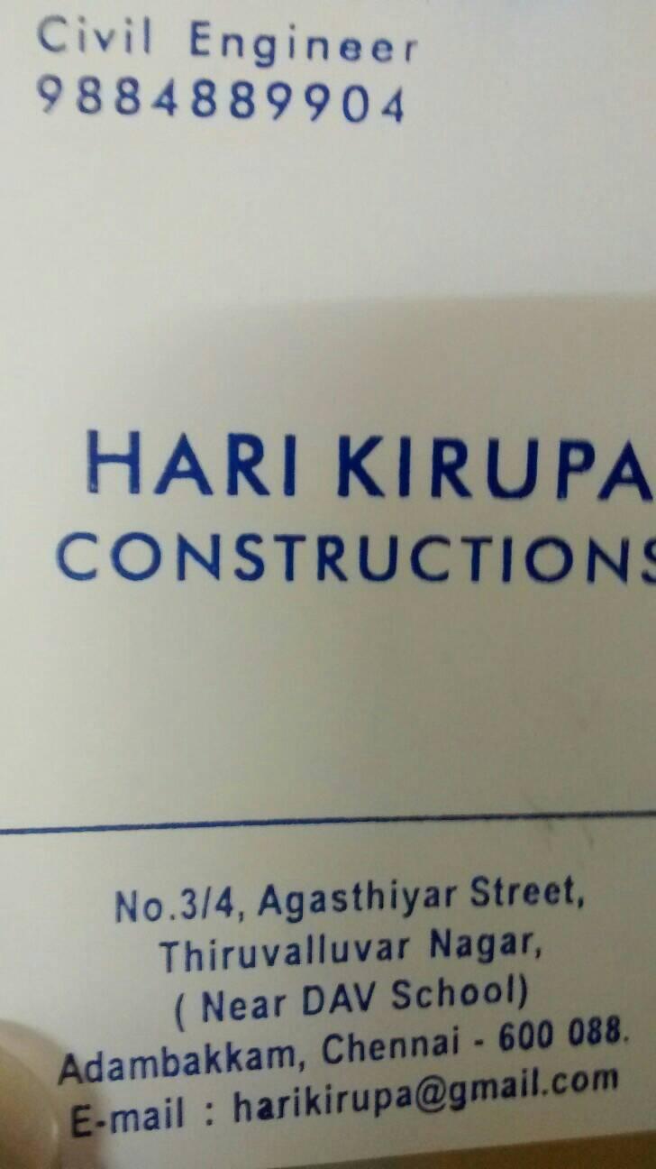 HARI KIRUPA CONSTRUTIONS