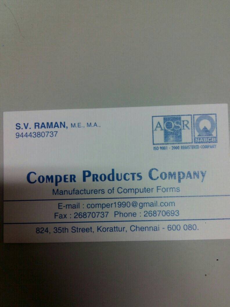 Comper products Company
