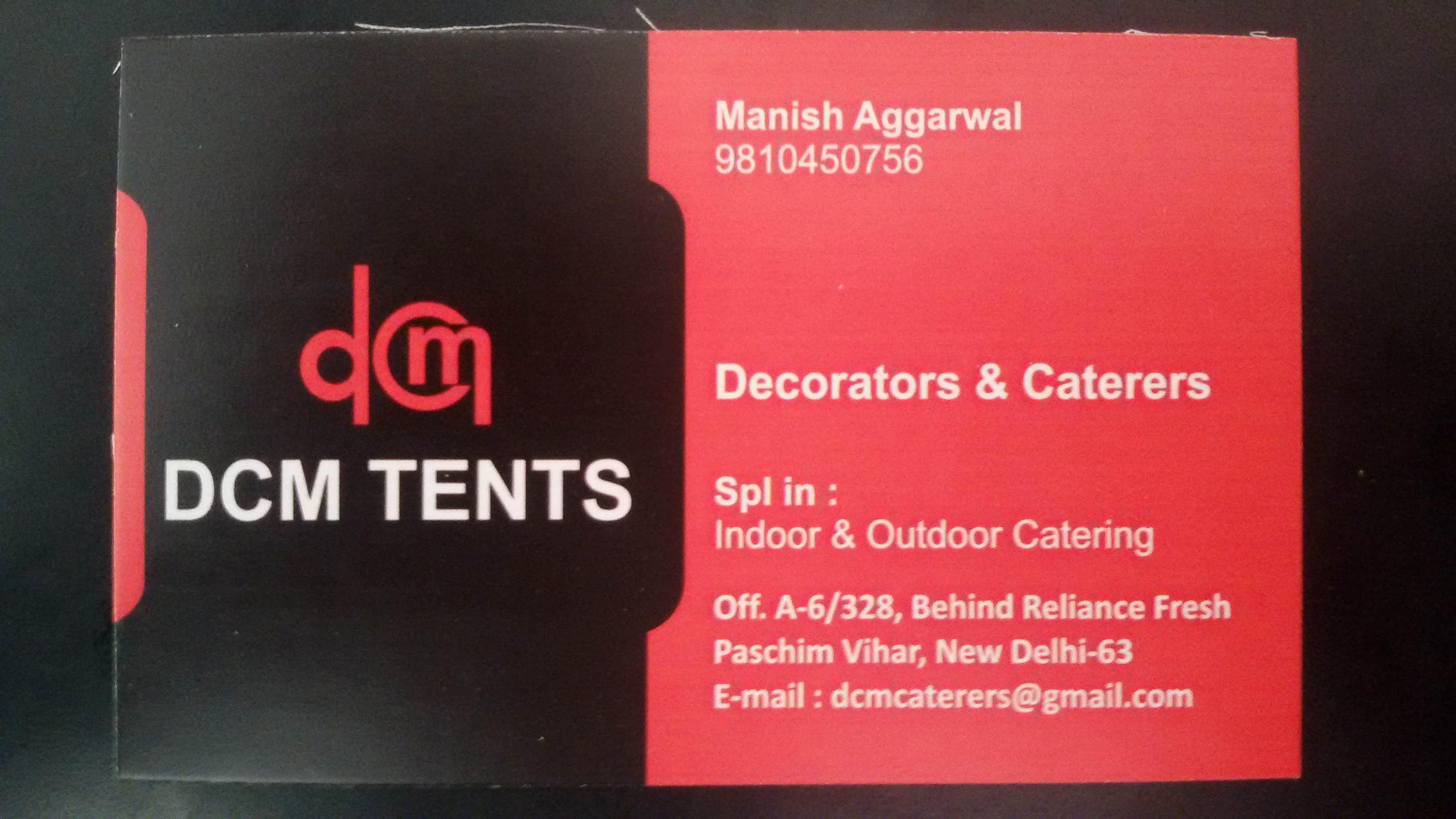 DCM Tents Caterers & Decorators