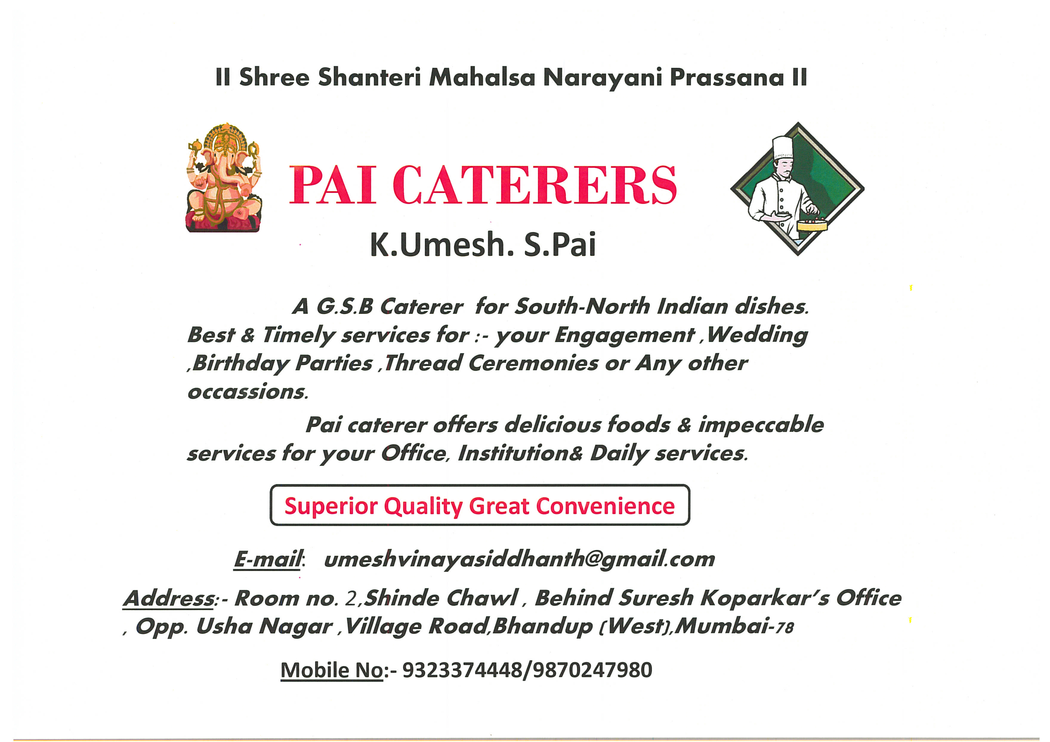 Pai Caterers