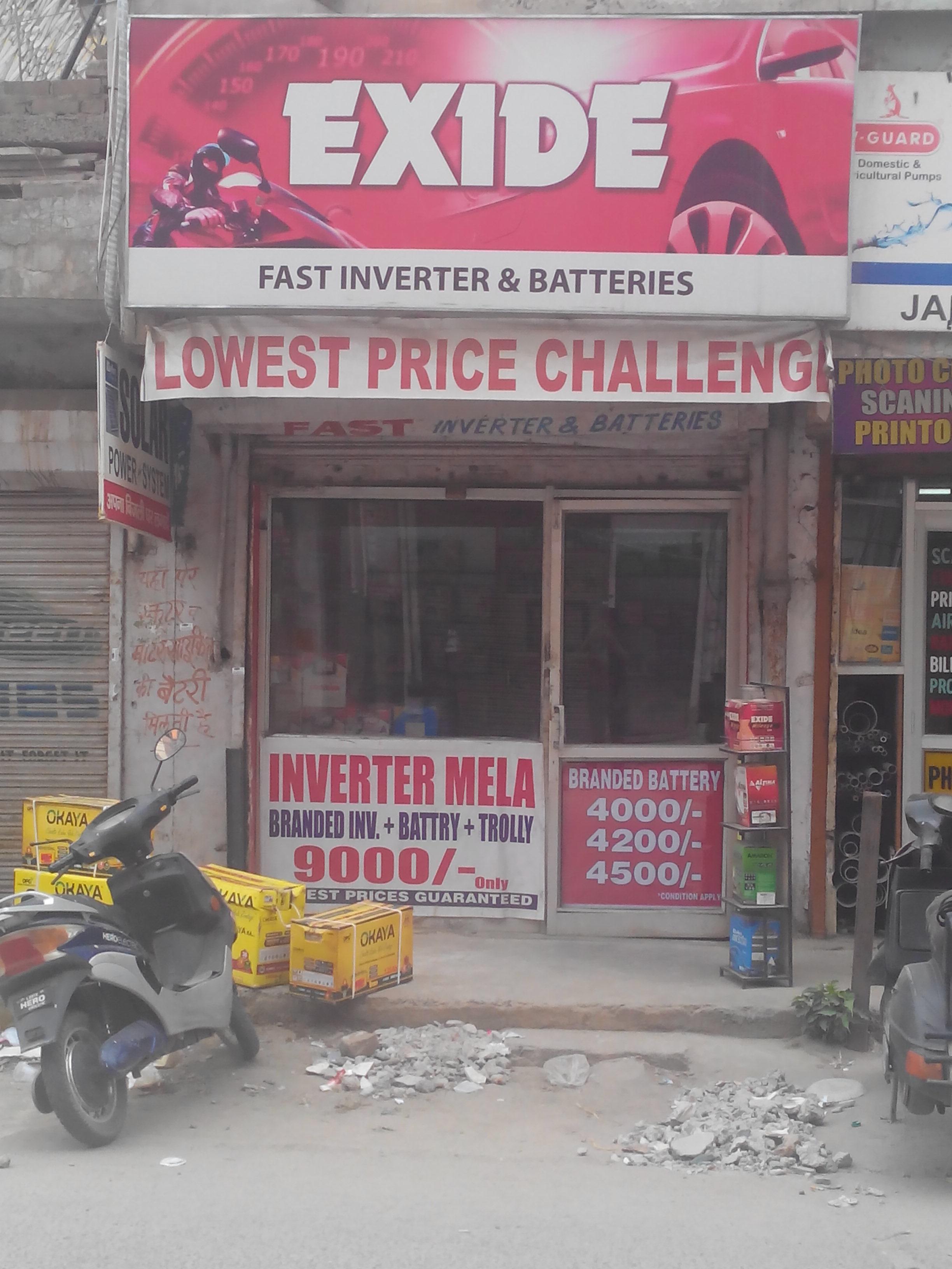 Fast Inverter & Batteries