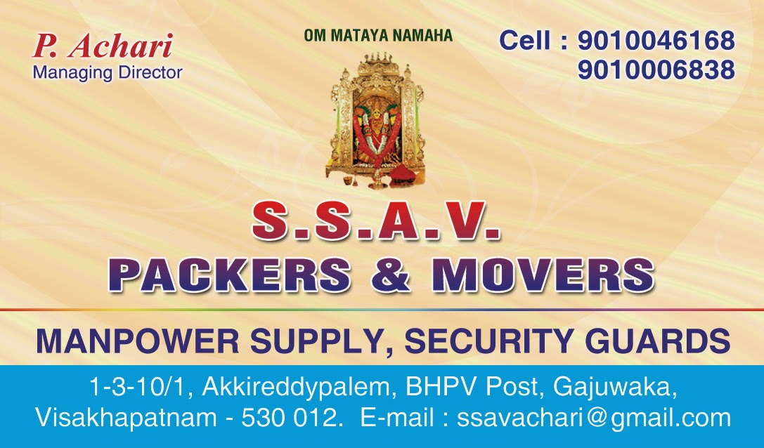 Ssav Packers and Movers