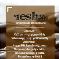 Resha : Home made chocolates.
