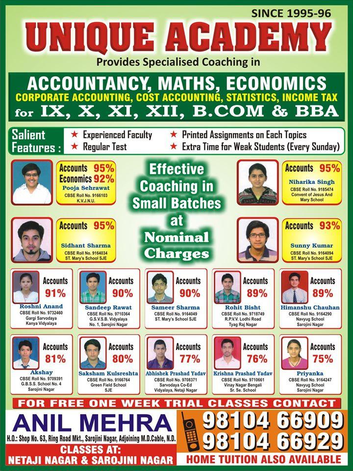 Unique Academy | Netaji Nagar | 9810466909
