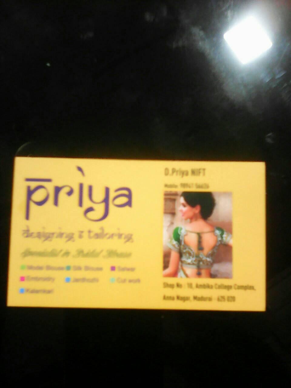 Priya Designing And Tailoring