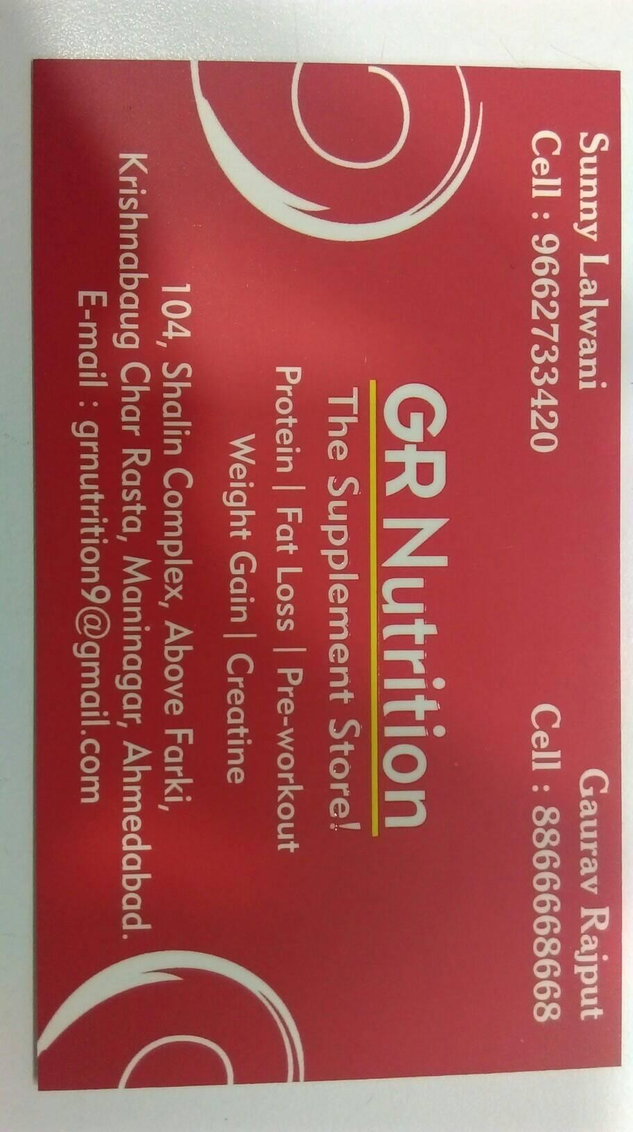 G R NUTRITION