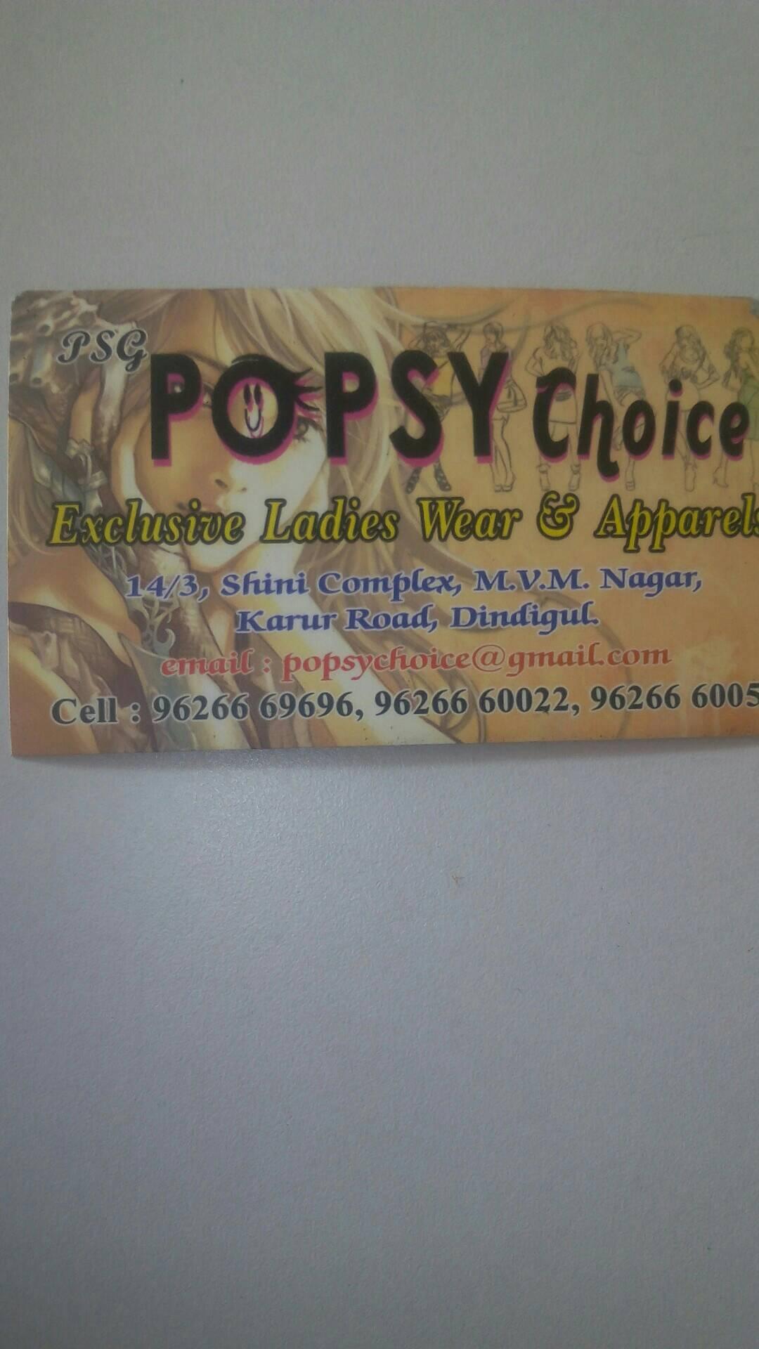 Popsy choice