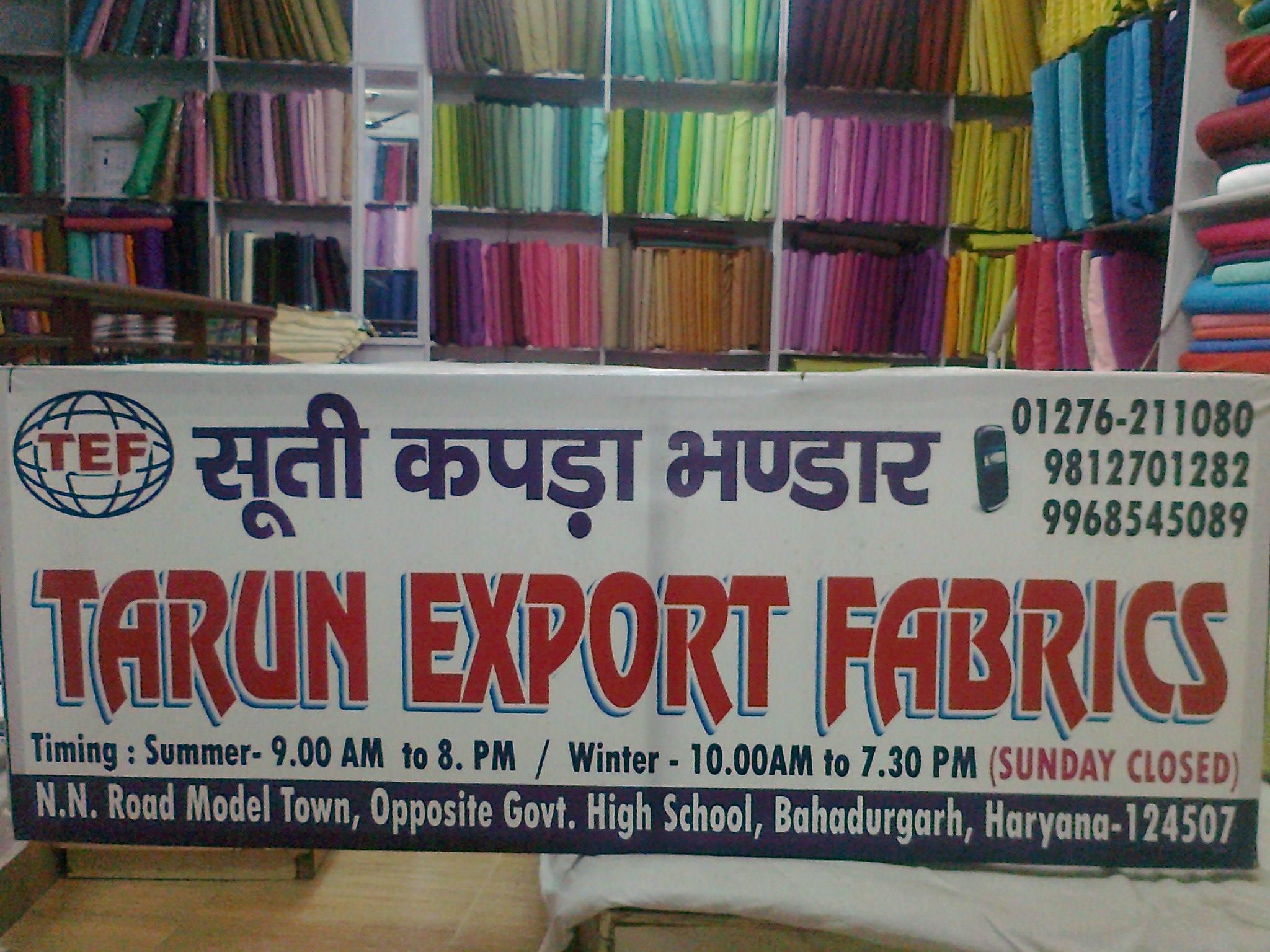 Tarun Export Fabrics