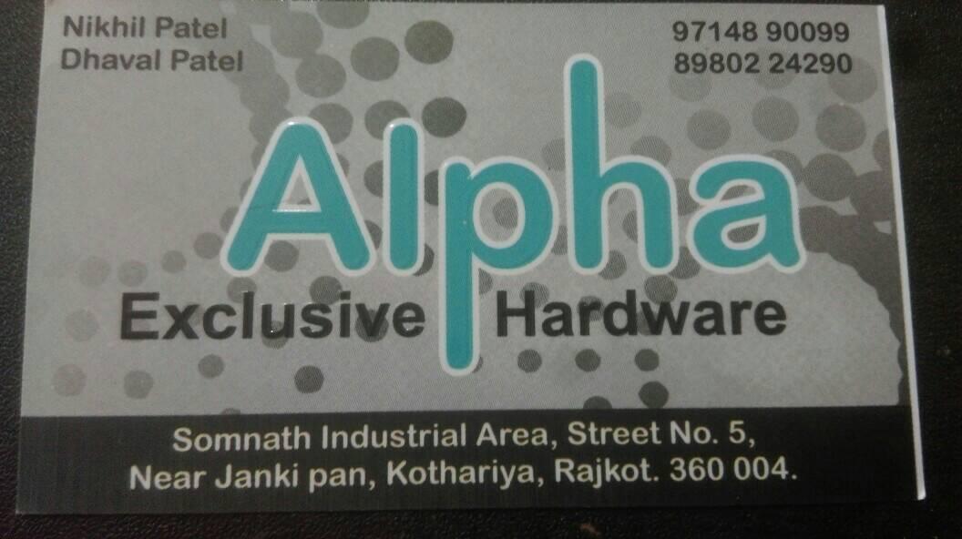 Alpha Exclusive Hardware