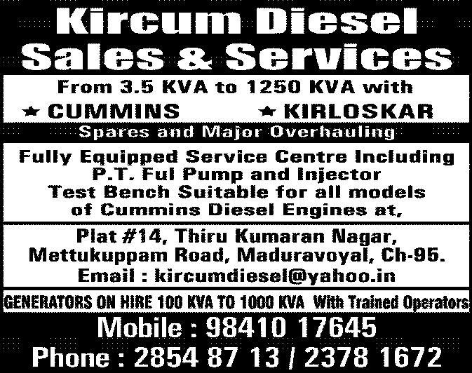 Kircum Diesel Sales And Services