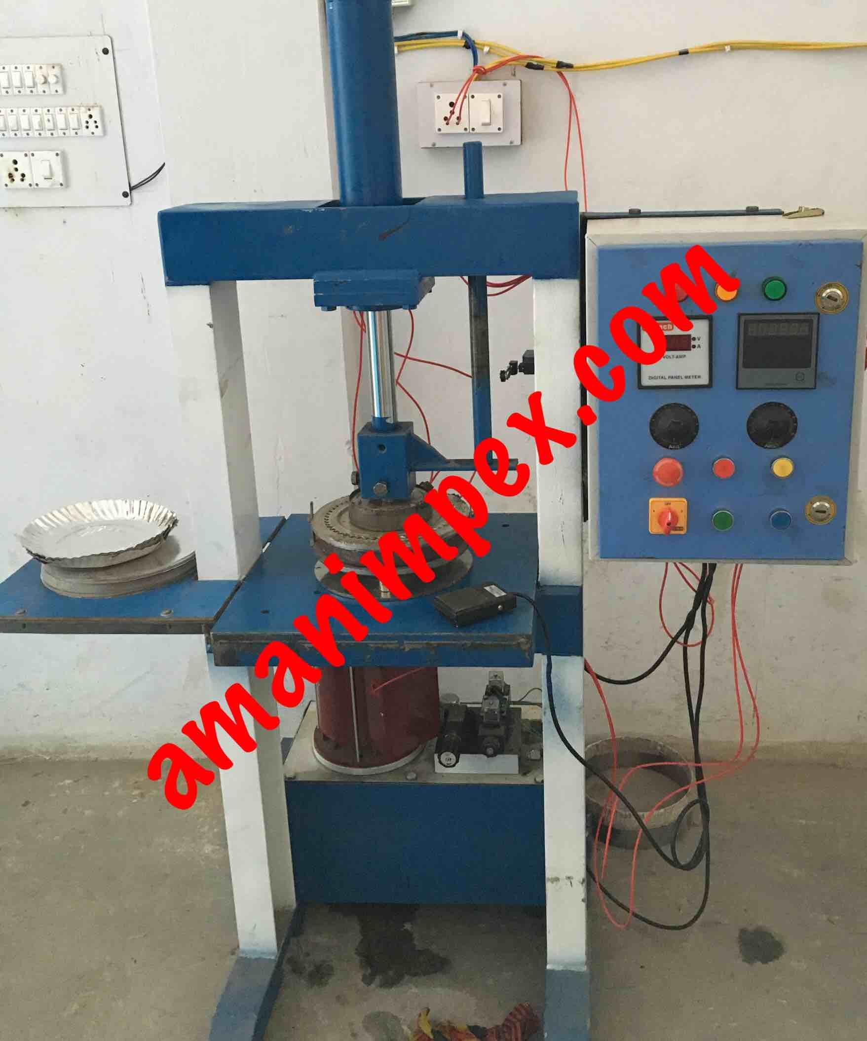 Paper plate making hydraulics machine