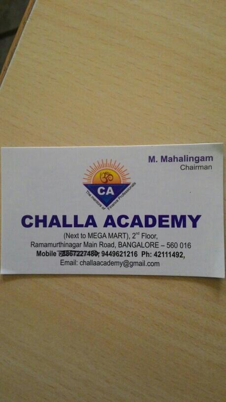 Challa Academy/ Challa PU College of Commerce