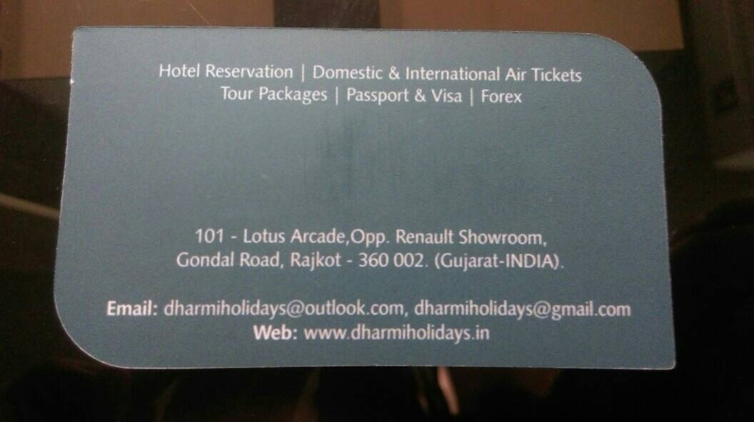 Dharmi Holidays