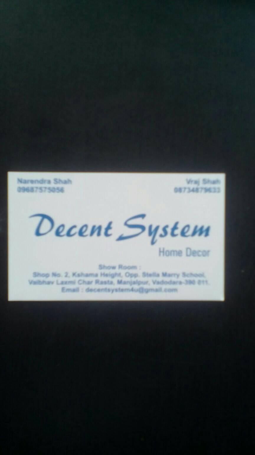 Decent System Home Decor