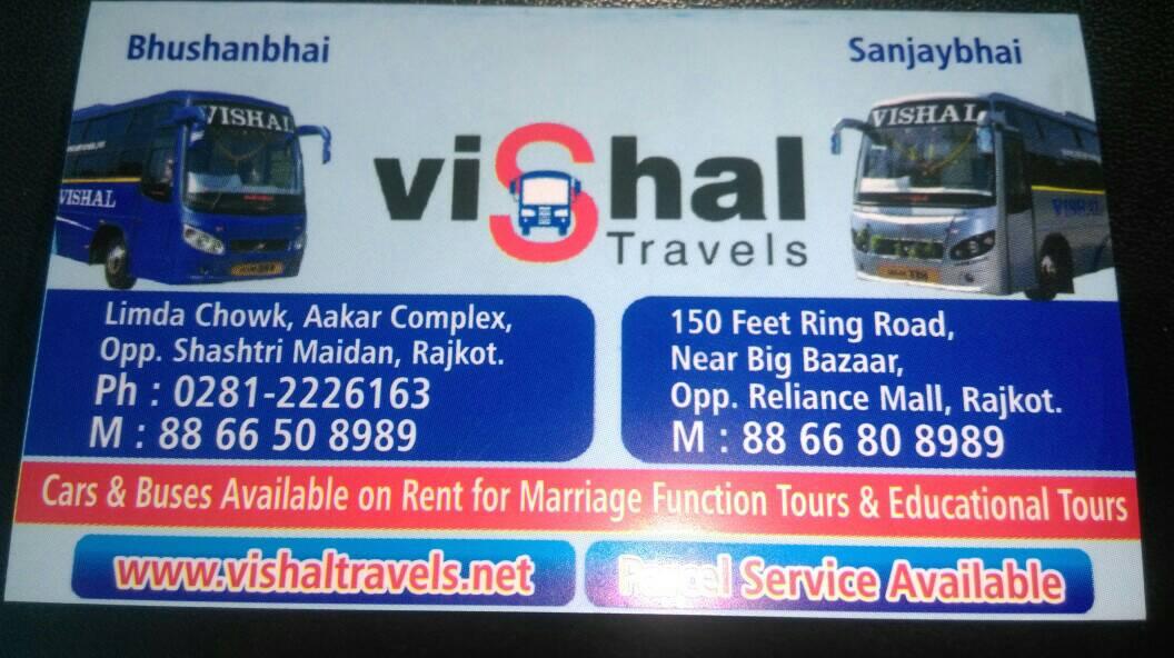 vishal travels Rajkot