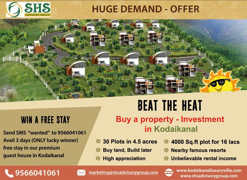 Plots For Sale. Premium Guest House In Kodaikkanal for Stay
