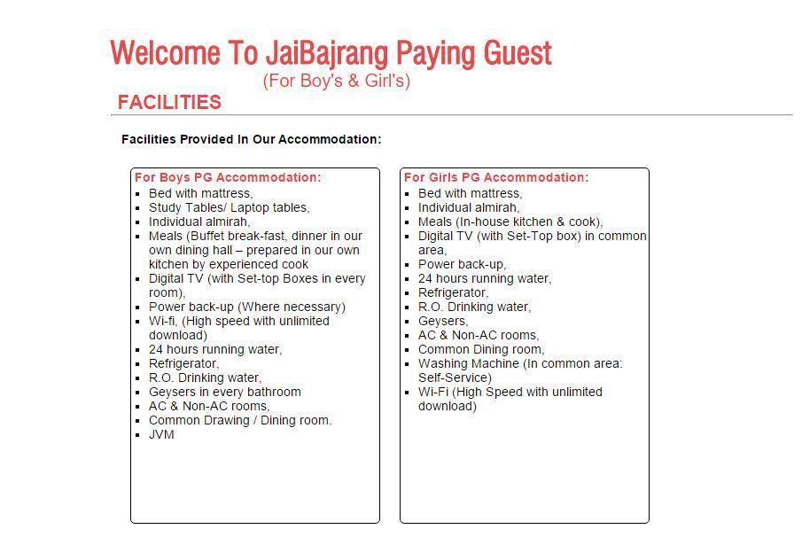 J B Associates & PG Room