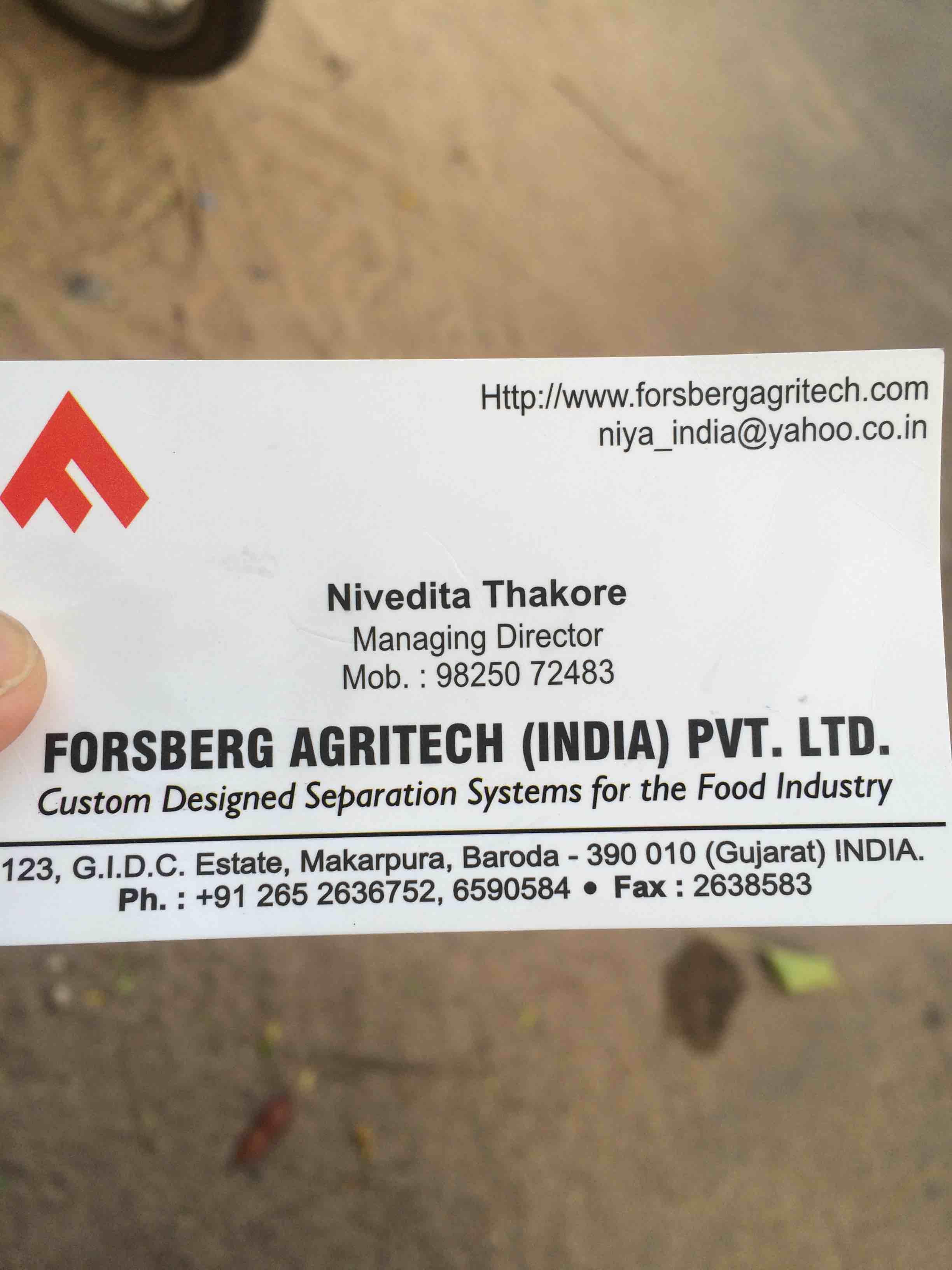 Forsberg Agritech (India) Pvt Ltd