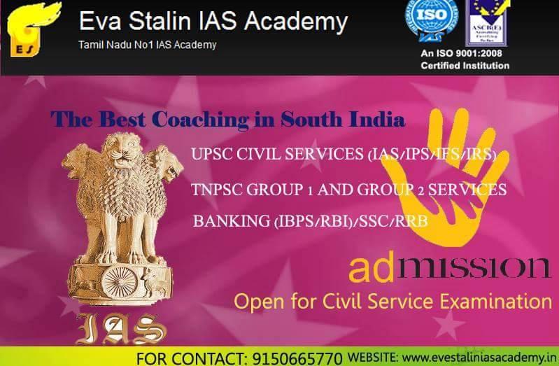 IAS Coaching Center - Eva Stalin IAS Academy 8678969915
