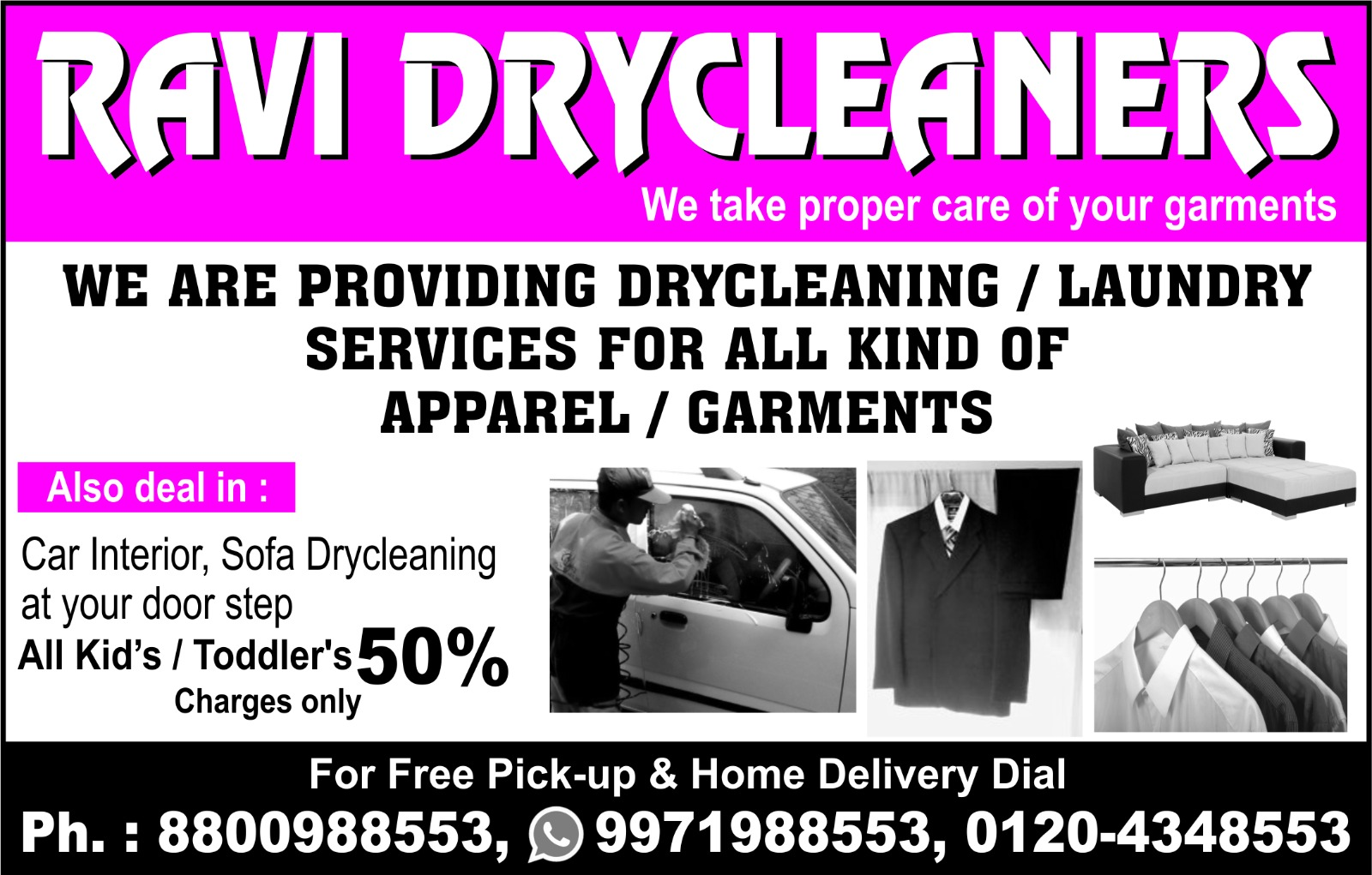 Ravi Dry Cleaners | +91 8800988553