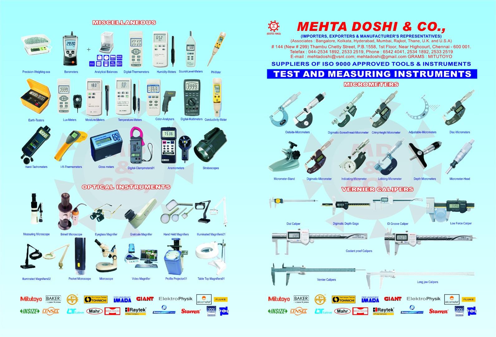 MEHTA DOSHI & CO Contact us: 044 25332519