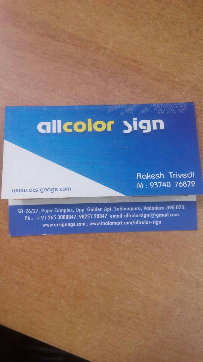 All Color Sign