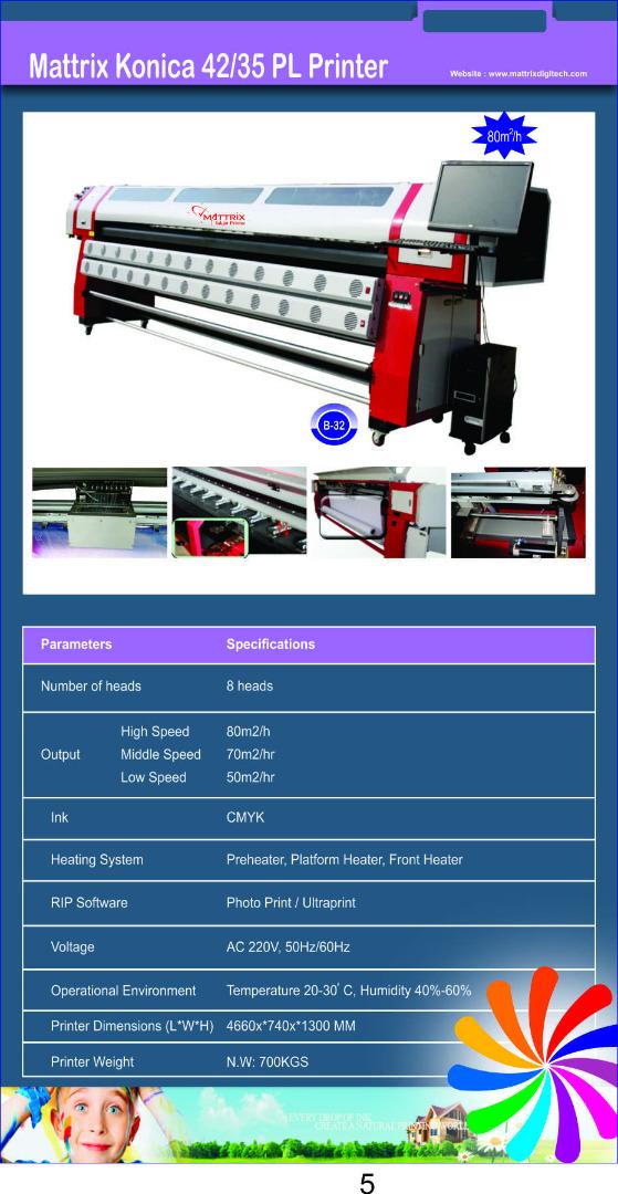 Flex Printer Manufacturer- Mattrix